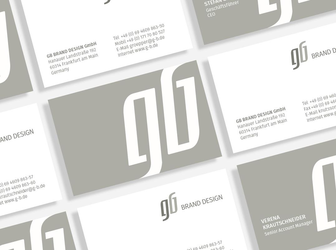 Gb Brand Design Die Neuen Visitenkarten Von Gb Brand